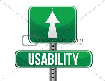 usability sign