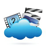 cloud with movie frame