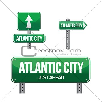 Atlantic city road sign