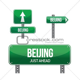 Beijing city road sign