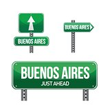 Buenos Aires city road sign