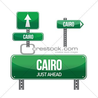 cairo egypt city road sign