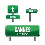 cannes city road sign
