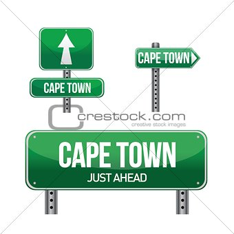 cape town city road sign