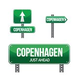 copenhagen city road sign