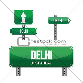 delhi city road sign