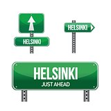 helsinki city road sign