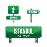 istanbul city road sign