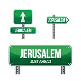 jerusalem city road sign