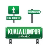 kuala lumpur city road sign