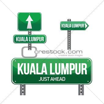 kuala lumpur city road sign