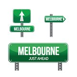 melbourne city road sign