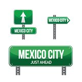 Mexico city road sign