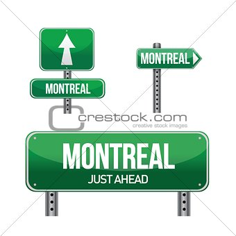 Montreal city road sign