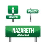 nazareth city road sign