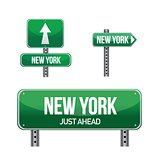 New York city road sign