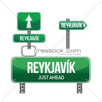 reykjavik city road sign