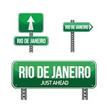rio de janeiro city road sign