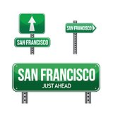 San Francisco city road sign