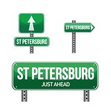 saint petersburg city road sign