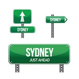 sydney city road sign