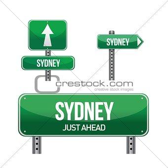 sydney city road sign