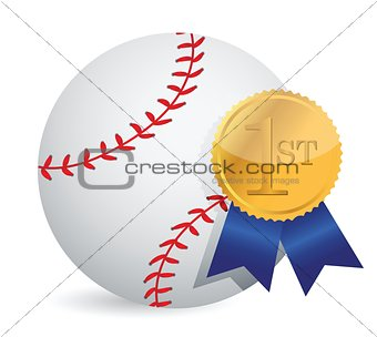 Baseball ball with award