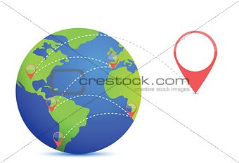 Earth and location points