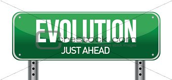 evolution road sign