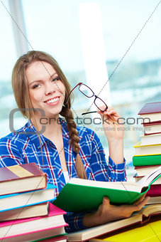 Student with book