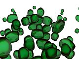 Semi Transparent green Stones - Computer Art Series