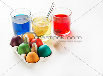 Eggs dyeing