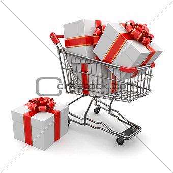 Gift in shopping cart