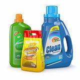 Washing powder and detergent bottles