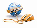 Concept of internet browser.