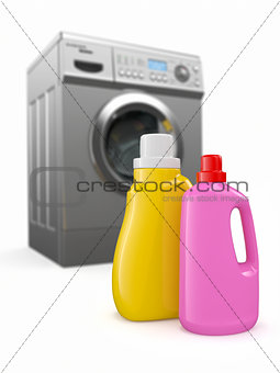 Washing machine and detergent bottles