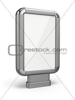Citylight. Blank advertising billboard. 3d