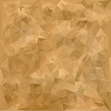 Old geometric polygonal paper texture, vector illustration.