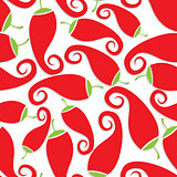 Seamless Chili Pepper wallpaper. Vector Illustration