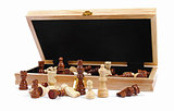 box with chess pieces