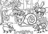 cartoon insects for coloring book