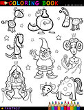 Fantasy Characters for coloring book