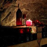 still life in wine cellar, Bily sklep rodiny Adamkovy, Chvalovic