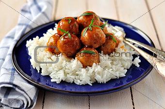 Apple Cider Glazed Chicken Meatballs