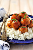Apple Cider Glazed Chicken Meatballs