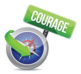 courage on a compass