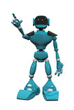 blue plastic robot on white background
