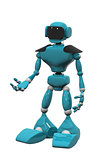 blue robot on white background