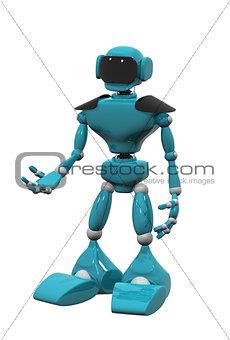blue robot on white background