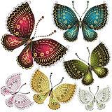 Set fantasy vintage butterfly